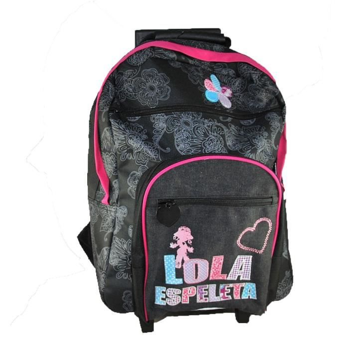 trolley sac dos roulette lola espeleta 39 flower 39 achat vente cartable 2009897948547. Black Bedroom Furniture Sets. Home Design Ideas