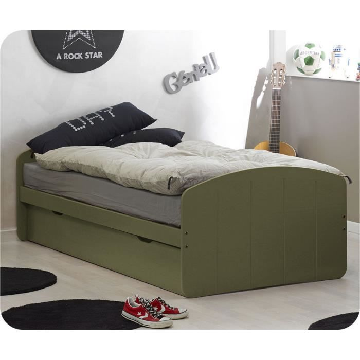 lit enfant gigogne dream 39 in olive 90 x 190 cm achat. Black Bedroom Furniture Sets. Home Design Ideas