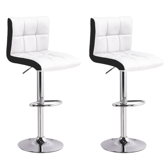 b57b51dd72cbbf Lot de 2 tabourets de bar Magic Blanc - Achat   Vente tabouret de ...