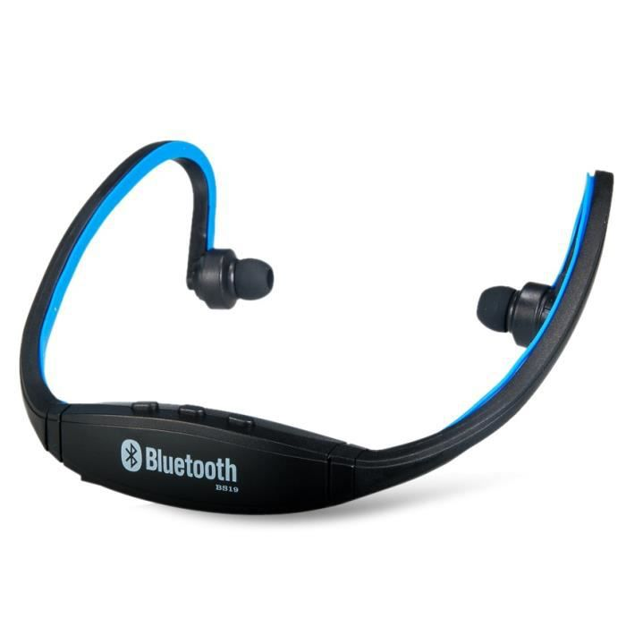 bs19 sans fil bluetooth couteurs intra auriculaires sports headset bleu achat vente. Black Bedroom Furniture Sets. Home Design Ideas