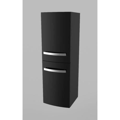 meuble colonne bendy noir hauteur 110cm achat. Black Bedroom Furniture Sets. Home Design Ideas