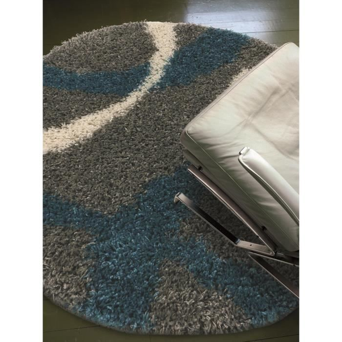 benuta tapis poils longs coco gris 80 cm rond achat vente tapis soldes d t cdiscount. Black Bedroom Furniture Sets. Home Design Ideas