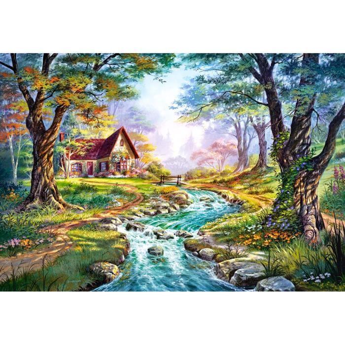 PUZZLE Puzzle 1500 pièces Cottage, Couleurs d'Automne