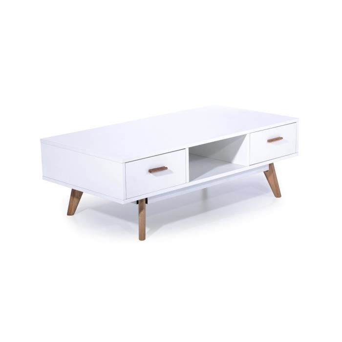 Table basse blanche laqu waite achat vente table - Table basse blanche laque ...