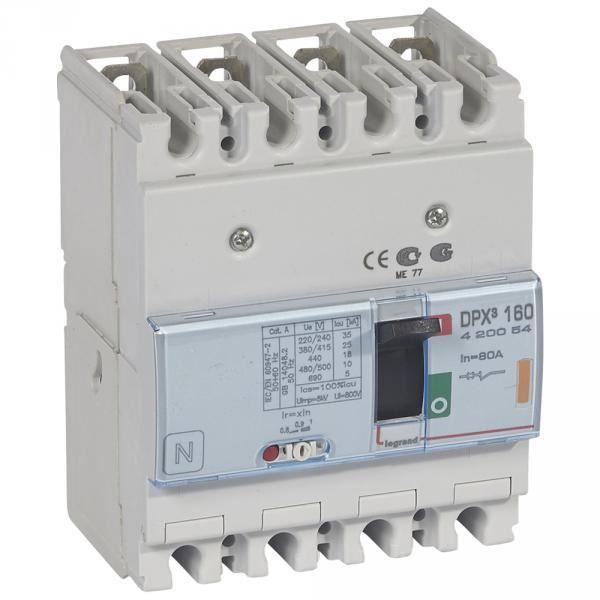 lacer dans meilleure sélection de 50-70% de réduction Legrand 420054 - Disjoncteur puissance dpx³ 160 - 80A 4P 25kA -  magnéto-thermique