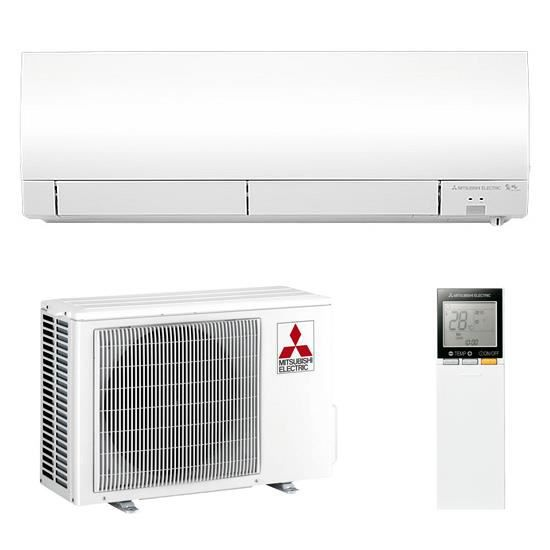 Kit climatiseur mural mono split inverter r versible 2 5 for Climatiseur inverter mural