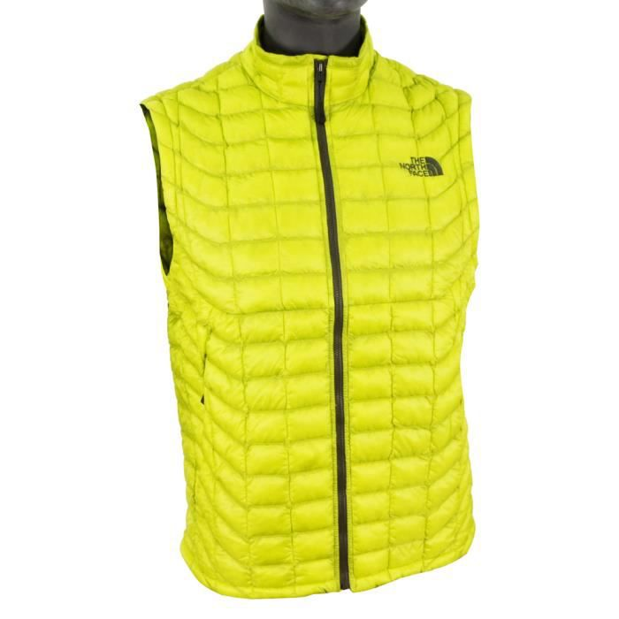 eb4c8eb524 Doudoune sans manches The North Face Gilet Thermoball Jaune Jaune ...