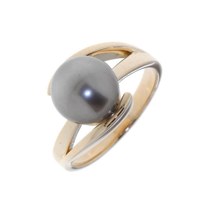 Bague Or 750 Perle ref 41453