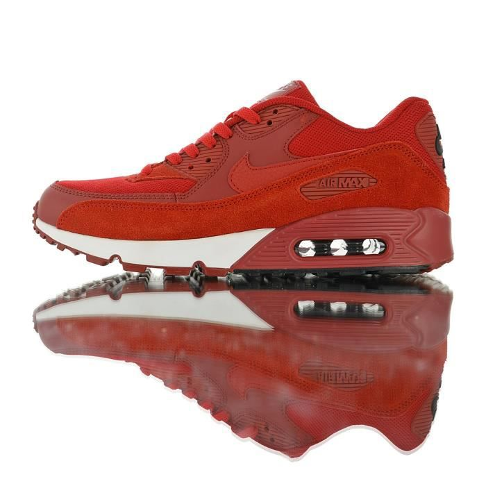 Baskets Mens Shoes NIKEs AIRs Max 90 Essential Rouge Blanc Homme ...