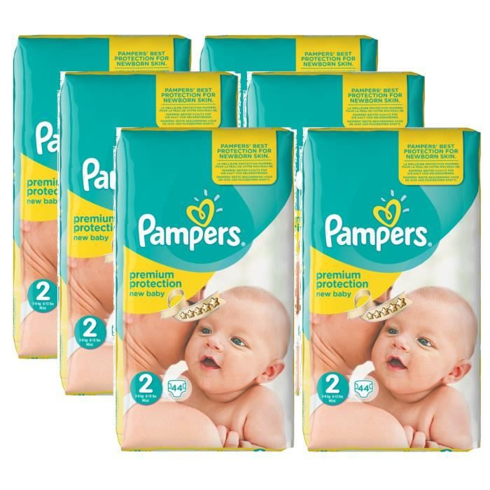 Pampers New Baby Taille 2 Mini 3 6kg 264 Couches Achat Vente