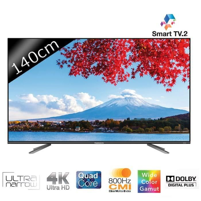 thomson 55ua7706 smart tv led uhd 4k 3d 140cm t l viseur led avis et prix pas cher soldes. Black Bedroom Furniture Sets. Home Design Ideas