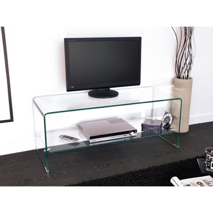 table verre pour tele. Black Bedroom Furniture Sets. Home Design Ideas