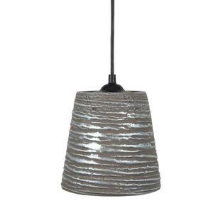 LUSTRE ET SUSPENSION LAMAS   Lustre - suspension céramique, diamètre 14