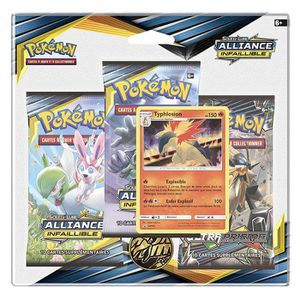 CARTE A COLLECTIONNER Pokémon - Tri Pack Francais de 3 boosters Soleil e