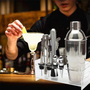 SHAKER - SET COCKTAIL  10pcs Cocktail Shaker Maker Set avec base en acryl