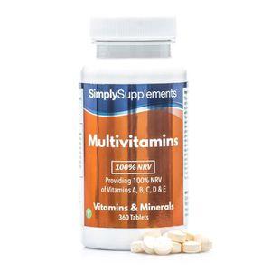 COMPLÉMENT EN MINÉRAUX Multivitamines | 360 comprimés