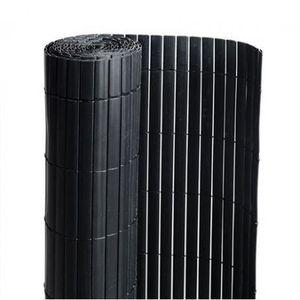 CLÔTURE - GRILLAGE Canisse en PVC noir - 90% d'occultation - longueur