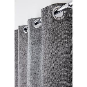 RIDEAU Rideau Tamisant 140 x 250 cm à Oeillets Aspect Chi
