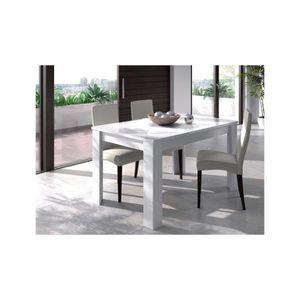 TABLE À MANGER SEULE TABLE DE SALLE À MANGER À RALLONGE JIMENA - Blanc