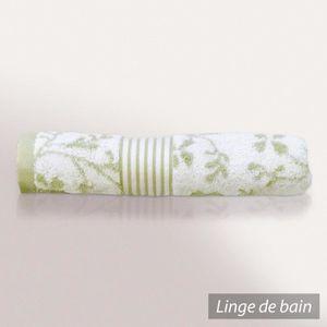 Linnea Serviette invit/é 33x33 cm Vintage Floral Vert 550 g//m2