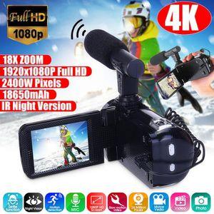 PACK APPAREIL RÉFLEX NEUFU 4K Full HD 1080P 24MP Zoom 18X 3 '' Caméscop