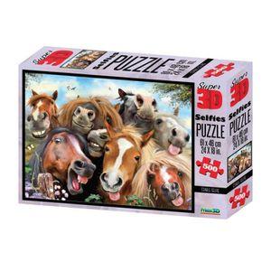 PUZZLE Philos - 9053 - Puzzle 3D - Chevaux Selfie - 500 P