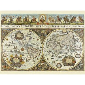 PUZZLE Puzzle 3000 pièces - Carte du monde, 1665