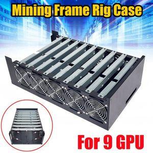 BOITIER PC  DIY Mining Frame Rig Case Minière Cadre Pour 9 GPU