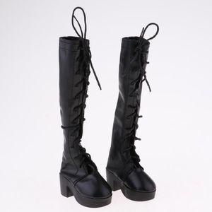 POUPÉE Chaussures de poupée mode noires à lacets pour pou