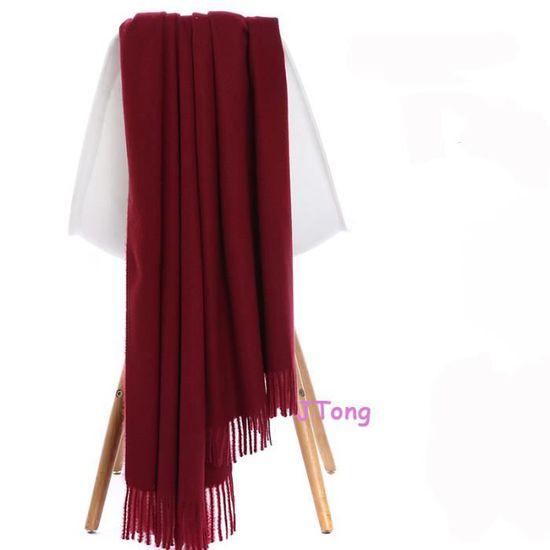 détaillant acheter vente moitié prix JTong Grande Echarpe Femme Fille Cachemire Chaud Automne Hiver ...