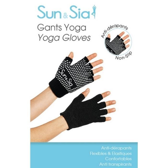 Sport - Gants de yoga antidérapants - Taille unique 2,4 cm