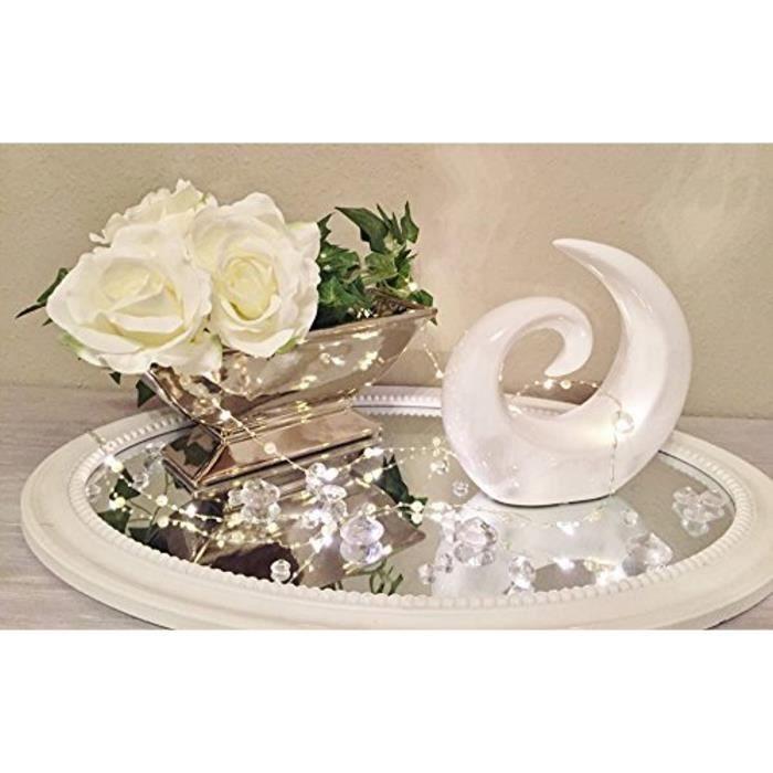 DRULINE objet de décoration en céramique caractère Creek objet d'art sculpture Trendy objet décoratif blanc 0811SFOSI2H