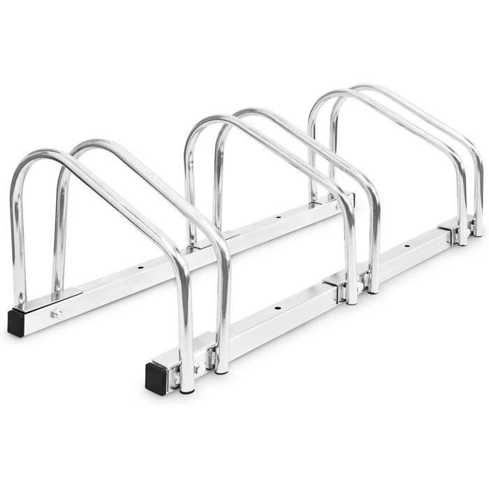 Bc-elec - BS400003 Rack à vélos, support de rangement bicyclette, râtelier vélo, Support pour 3 vélos, au sol ou mural