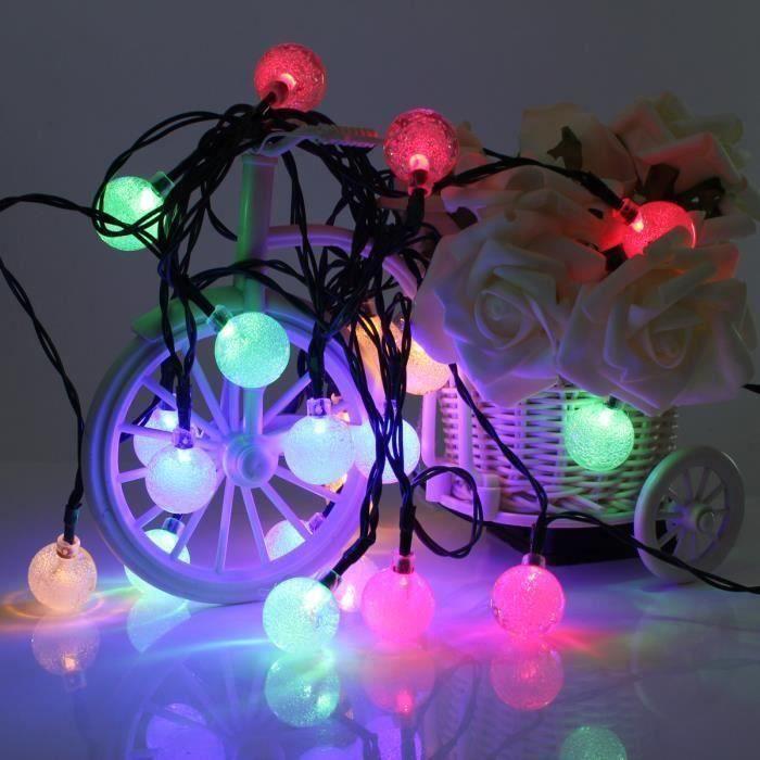 4.8M 20 LED Boule Guirlande Solaire Noël Fête Mariage String Etanche Multicolore A49080