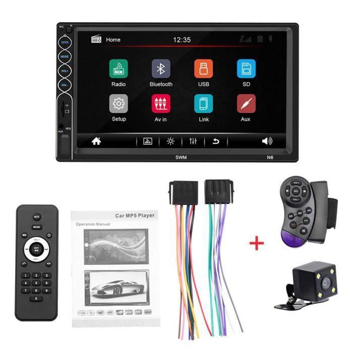 Autoradio 2 din Autoradio 7- HD Autoradio lecteur multimédia 2DIN écran tactile Autoradio MP5 - Type with SWC and camera