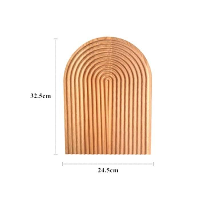 Planche à découper,Bloc à découper en bois de hêtre de style nordique, pain plateau à Dessert planche à découper - Type C