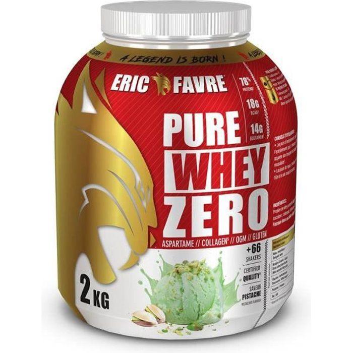 Eric Favre - Whey protéine concentrée Zero - Proteines - Pistache - 2kg