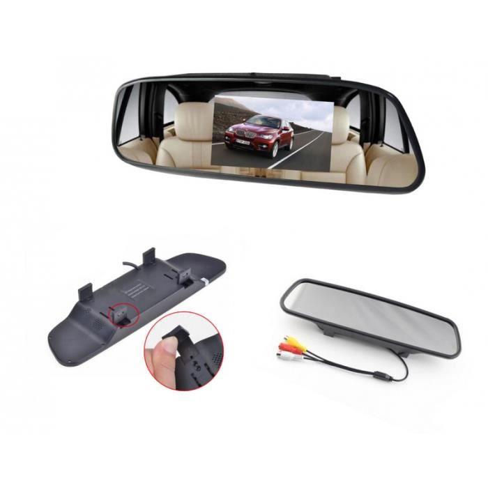 Rétroviseur Central à écran intégré 3.5- / 4.3- LCD Couleur - Accessoire vidéo pour voiture camion camping car