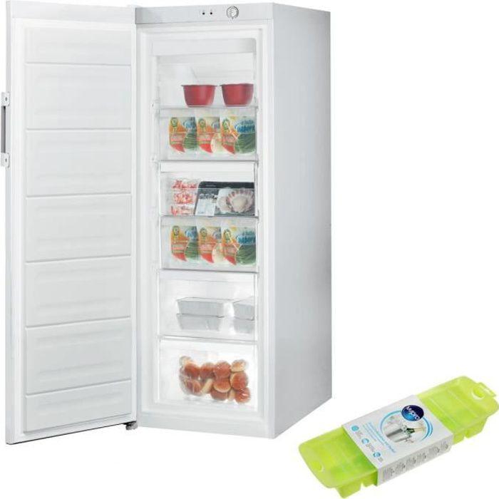INDESIT CONGELATEUR armoire vertical blanc A+ Froid Statique 232L autonomie 16h Porte sans déport