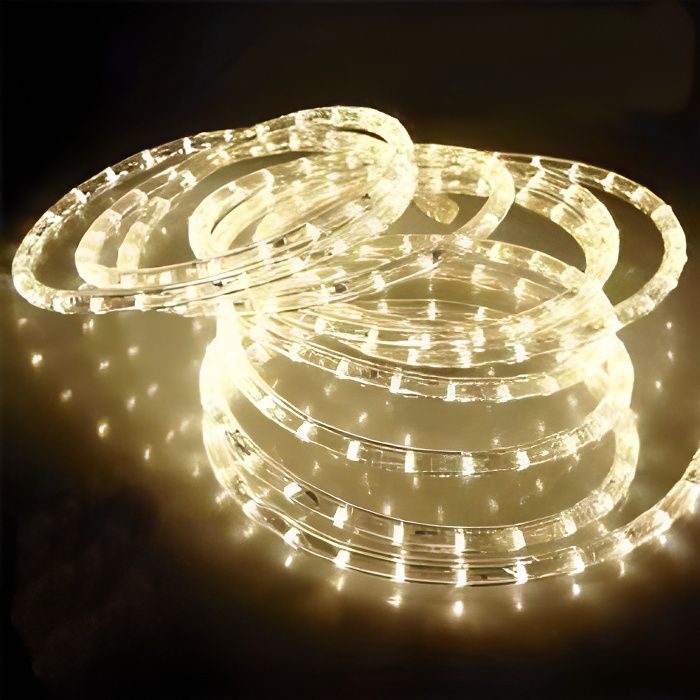 Guirlande Tube lumineux Led Blanc Chaud 24m