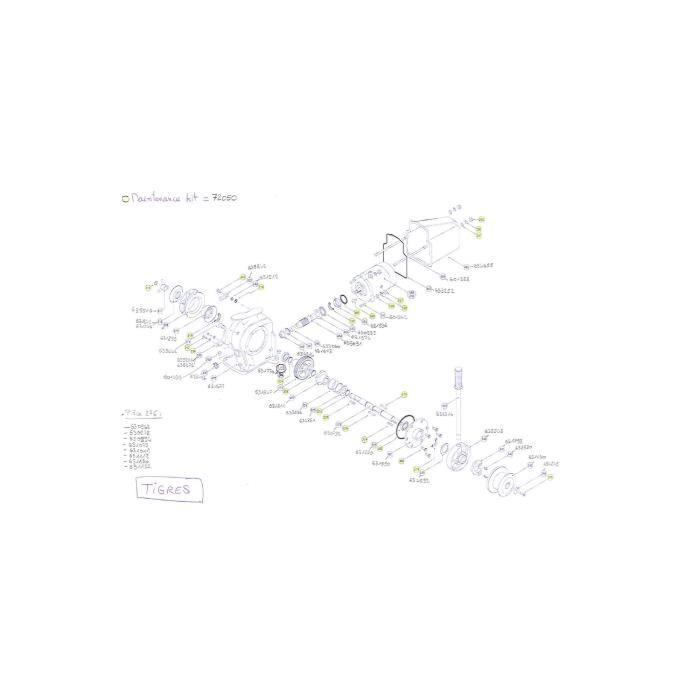 TIGRES- Pièces détachées pour guindeau LOFRANS' Pièce détachée n°631846 / #318B