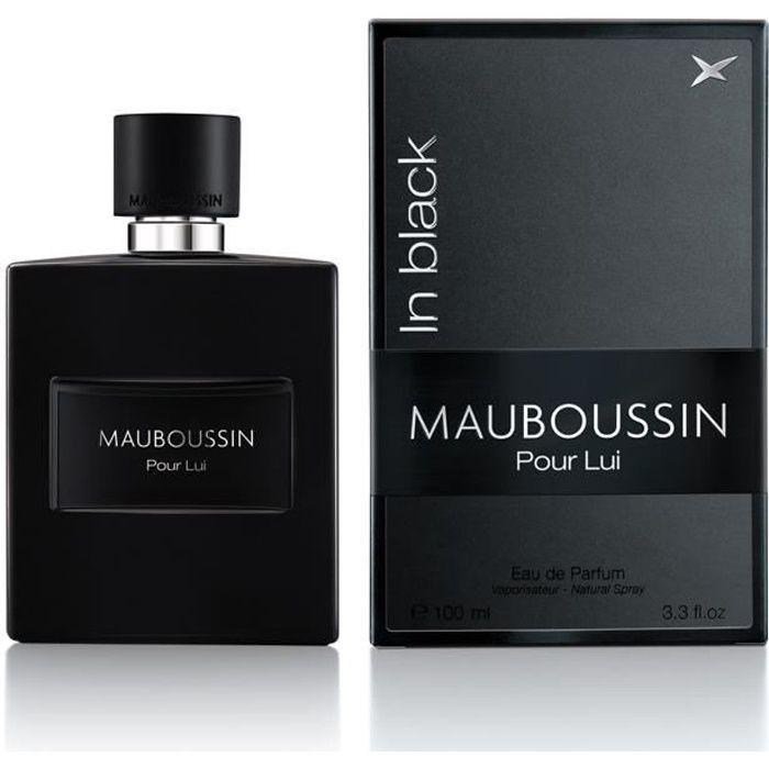 Mauboussin - Eau de Parfum Homme - Pour Lui In Black - Senteur Boisée & Orientale - 100ml