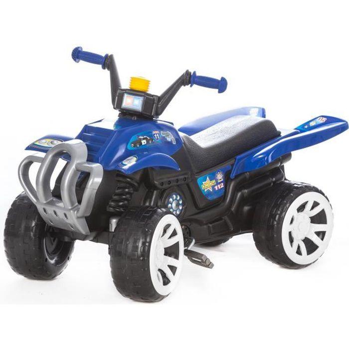 NEO Quad à pédales avec larges roues porteur pour enfant Bleu
