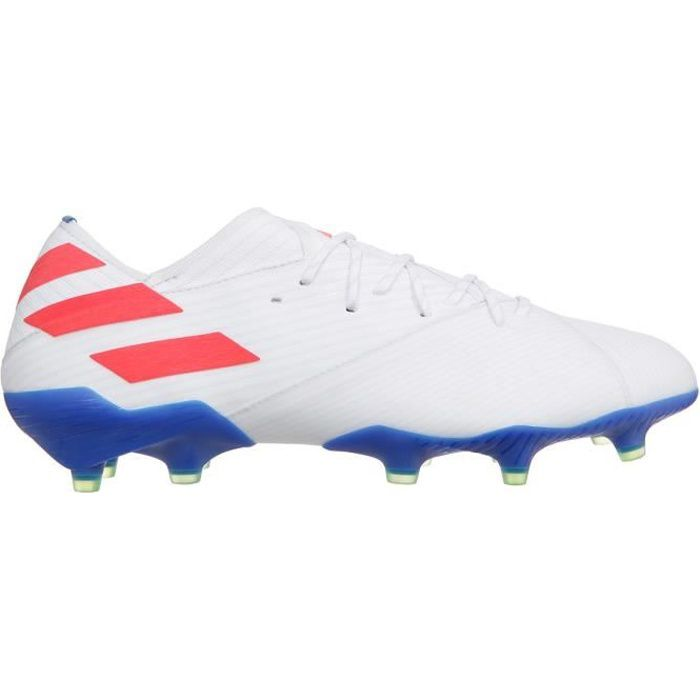 ADIDAS PERFORMANCE Chaussures de Football Nemeziz Messi 19.1 FG - Homme - Blanc/Rouge/Bleu