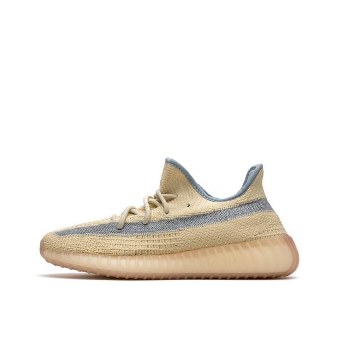 Basket Yezzy BOOST Yezzy 350 V2 -Linen- FY5158 Chaussures de Running Homme Femme - Jaune