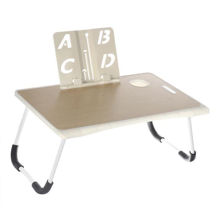 NEUFU Table de lit PC Ordinateur Portable - Pliable - 60x40x28cm