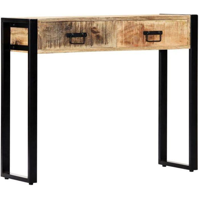 Table Console-Table d'entrée-Table de Salon 90 x 30 x 75 cm Bois de manguier massif