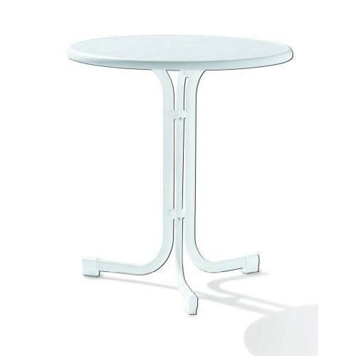 Sieger 108/W Table de Jardin Acier Blanc 70 x 70 x 72 cm…