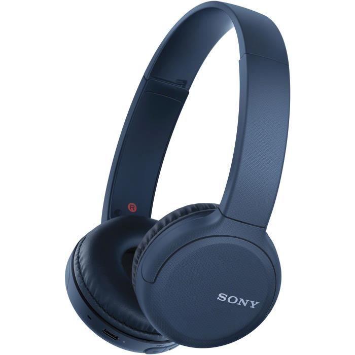SONY WHCH510L Casque Bluetooth sans fil - Autonomie 35h - Bleu