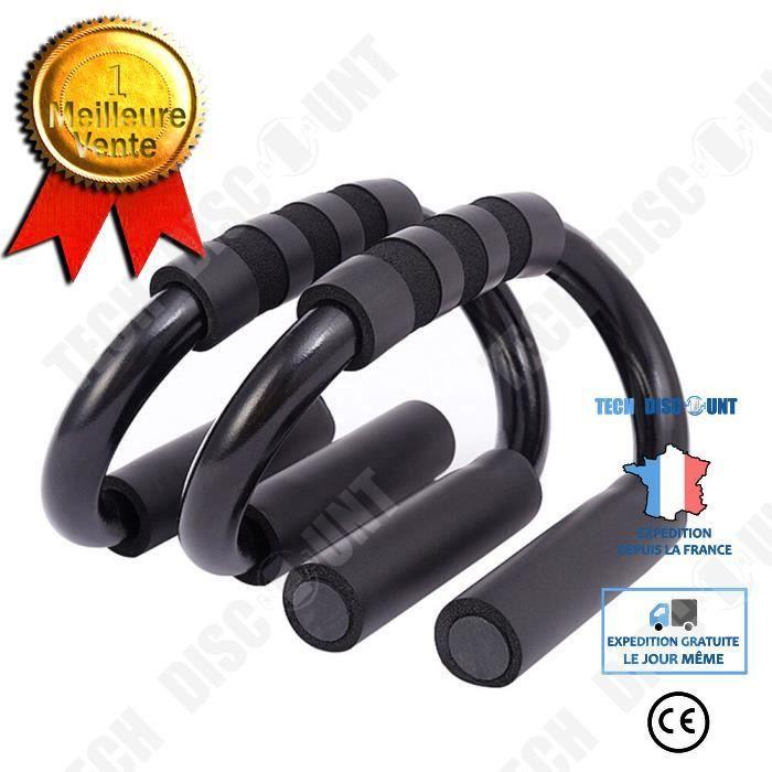 TD® 1 paire poignées en mousse entraînement sport Muscle corps S forme maison tirer exercice gymnastique - Modèle: Black -